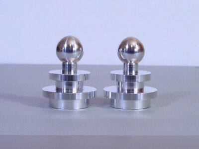 Awesome Pair Of Art Deco Markel Style Machine Age Lamp Finials