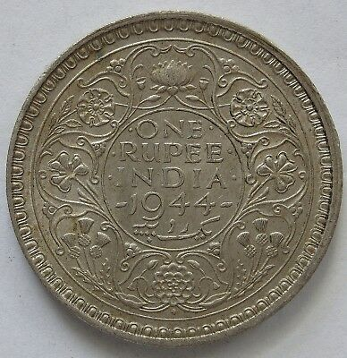 India 1944 Bombay Silver Rupee.VF(LotE11181118)Free Postage