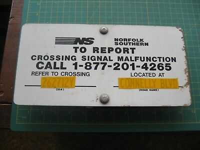 Vintage Railroad Sign Train Ns Norfolk Southern Crossing Signal Report Nr
