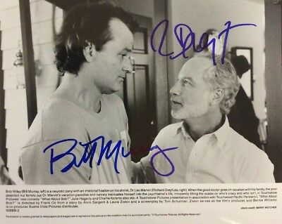 """Bill Murray And Richard Dreyfuss Signed Photo """"What About Bob?"""""""