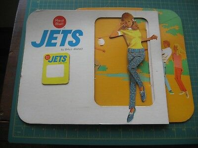Vintage Advertising Store Display Red Ball Jets Brand Shoes Old Early Nr