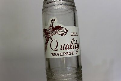 Quality Beverage Soda Bottle, Norfolk, Nebraska 1952