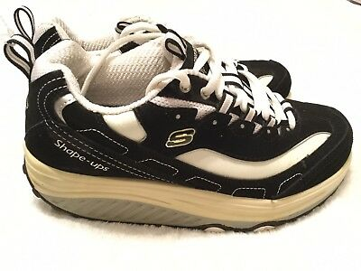 SKECHERS SHAPE UPS Womens Sz 7.5 Metabolize Sneakers Toning Shoes 11800WSL