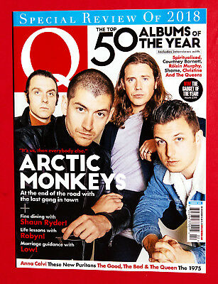 Q Magazine FROM UK - New February 2019 - ARCTIC MONKEYS Robyn THE 1975