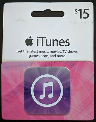 $15 Apple iTunes (Music and Apps) Gift Card