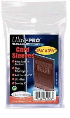 200 Ultra-Pro Soft Penny Card Sleeves (Standard Size) NO PVC, 2 NEW SEALED PACKS