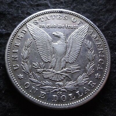 1890-CC Morgan Silver Dollar - Solid XF details from the Carson City Mint