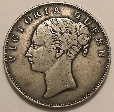 1840 British India Silver One Rupee, Young Head Victoria, East India Company
