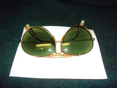 5993465420 VINTAGE 1940s BAUSCH   LOMB 12K GOLD FILLED RAY-BAN AVIATOR SUNGLASSES PILOT