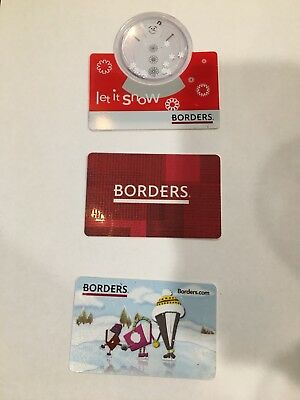 Borders Collectible Gift Card Waldenbooks Book Store (No Value)