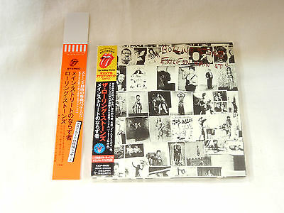 Rolling Stones JAPAN 1st issue Exile on Main St. Mini LP CD PROMO OBI STRIP SET