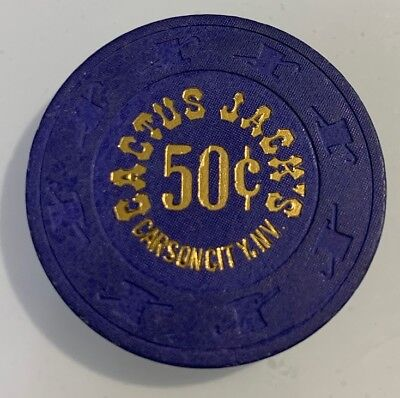 Cactus Jack's $.50 Casino Chips Carson City Nevada 2.99 Shipping