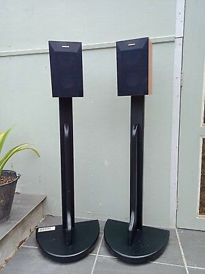 Home theatre black Speaker stands x 2, ( speakers are not included) pick up only