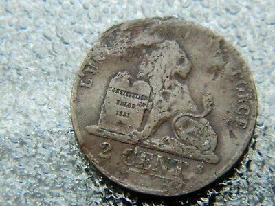 Old 1800's Ancient Pirate Shipwreck Era Old Belgian Antique Coin w/ Crown