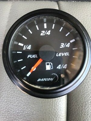 Datcon Fuel Level Gauge P/n 122896 ~ 12 Volt Analog For Bus, Truck Rv