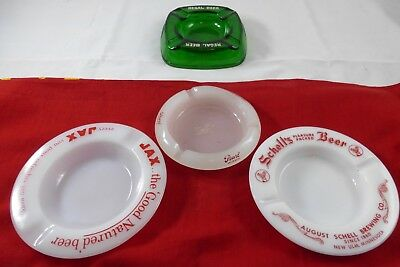 4 glass beer ashtrays