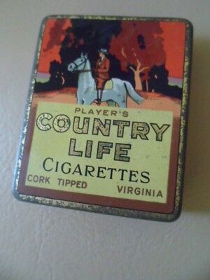Vintage  Player's  Country  Life   Empty   Cigarette Tin