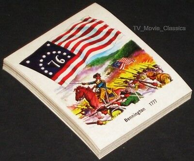 NATIONAL FLAG FOUNDATION © 1976 Complete 31 Sticker Card Set