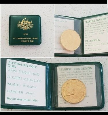 Australian $200 Gold Coin XII Commonwealth games Brisbane 1982