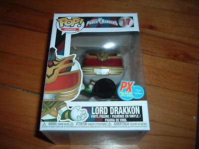 Funko Pop! Lord Drakkon #17~ New~ Px Previews Exclusive~ Mint~ Power Rangers~