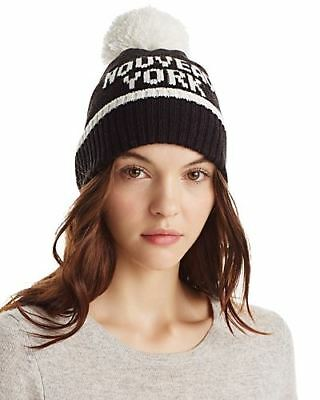 43fe50057ee3 NWT Authentic kate spade new york Nouveau York Merino Wool Pompom Beanie
