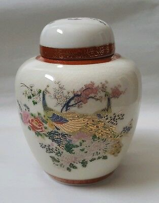 Satsuma Arnart Imports Inc Peacock Floral Ginger Jar With Lid Made In Japan 1979