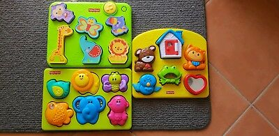 Fisher Price Baby Puzzles X 3