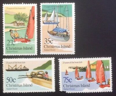 1983 Christmas Island 25 Years of the Boat Club - Set of 4 MNH