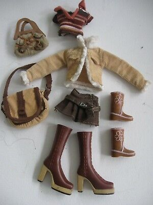 BRATZ DOLL CLOTHES - OUTFIT only Jacket, skirt, top, bag, boots, cow boy boots