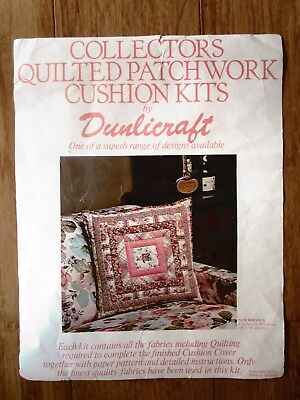 Collectors Quilted Patchwork Cushion Kit. Kit Is Berwick Size Is 45 X 45Cms
