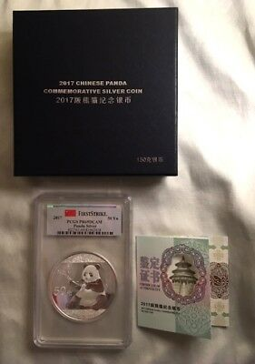 2017 China 150 Gram 50 Yuan Silver Panda Coin PCGS PR69DCAM First Strike Box/COA