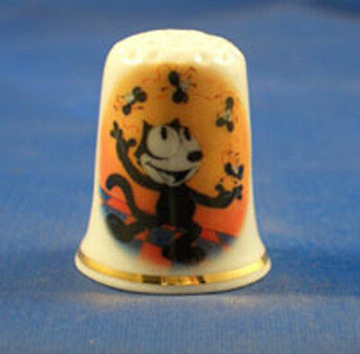 Fine Porcelain China Thimble - Felix The Cat -- Free Gift Box