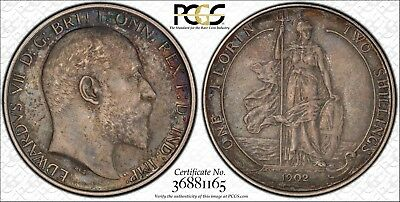 1902 Great Britain Circulated Matte Proof Florin Two Shilling in PCGS PR53