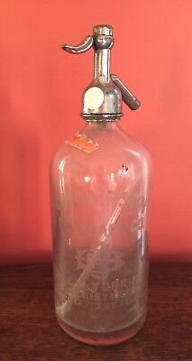 Vintage Clear Glass Seltzer Bottle Champson Beverage Co New York NY