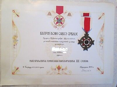 Serbian Firefighters Association Order of Prince Tomislav 3rd Class