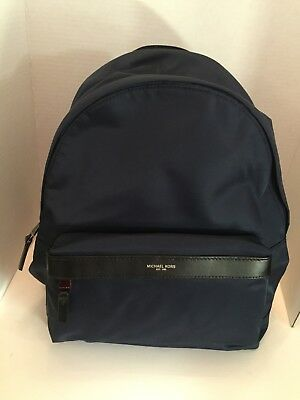 aadcd285c2a4 NWT MICHAEL KORS Kent Backpack Navy Blue Nylon Work School Travel MSRP $198