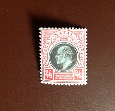 South Africa Natal 1908-09 2s6d Black & Red on Blue SG168 MH