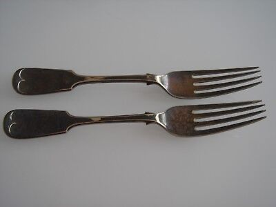 Antique Silver Plated Forks x 2