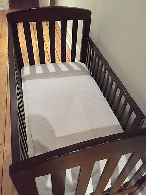 Boori Country Collection Classic Convertible Cot /Toddler Bed, Brown