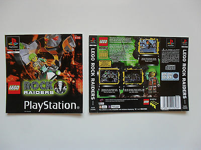 Original cover inlay for LEGO Rock Raiders - Playstation 1