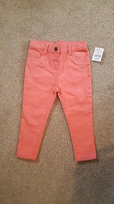 Girls coral jeans 12-18 months