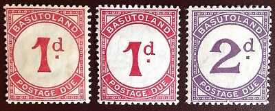 Basutoland 1933-52 Postage Due Set with Listed Shade MH