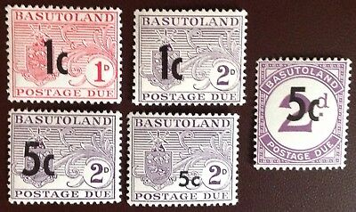 Basutoland 1961 Both Postage Due Sets with D7a MH