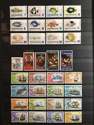 CHRISTMAS ISLAND COLLECTION, 1968 - 1985, used/ CTO, plus extras, 12 SCANS