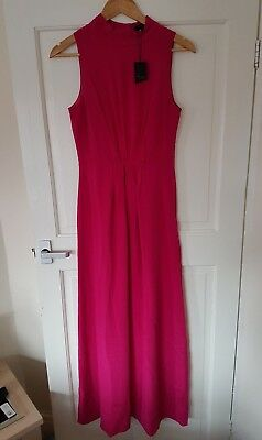 effd72f823063 BNWT €290 Ted Baker Size 2 UK 8 Silk Pink Maxi Dress Wedding Bridesmaid  Cruise