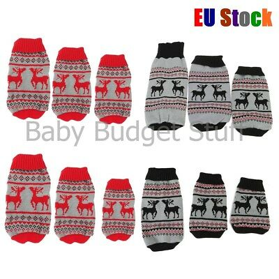 Pet Dog Christmas Jumper Sweater Coat Puppy Doggy Cat Winter Warm Clothes