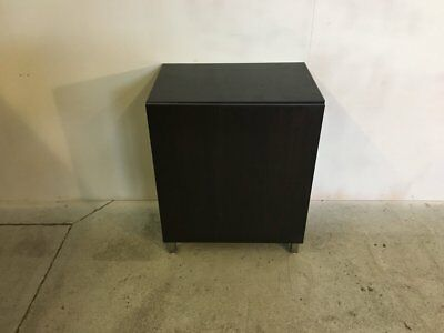 Small Black Cupboard With Two Adjustable Height Shelves