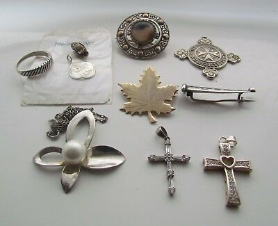 Vintage / Antique Job Lot Of Jewellery + Chain, Ring, Brooch, Charms Resale