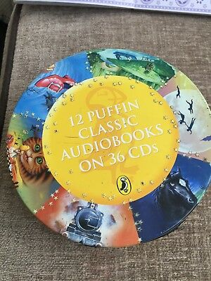 12 Puffin Classic Audiobooks In Zip Tin.36 CD's.
