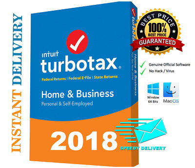 TurboTax Home and Business + State 2018 Tax Software [PC/MAC Download Version]
